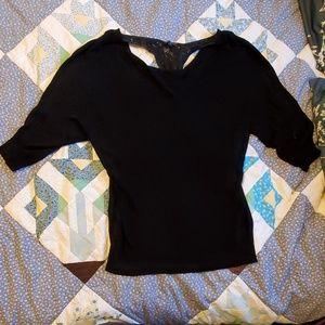 Lace racerback sweater